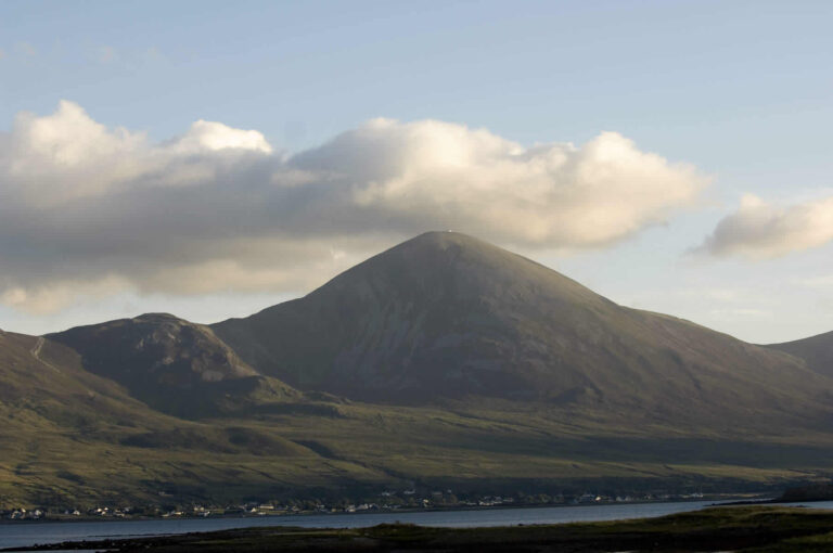 View of Croagh Patrick over Clew Bay