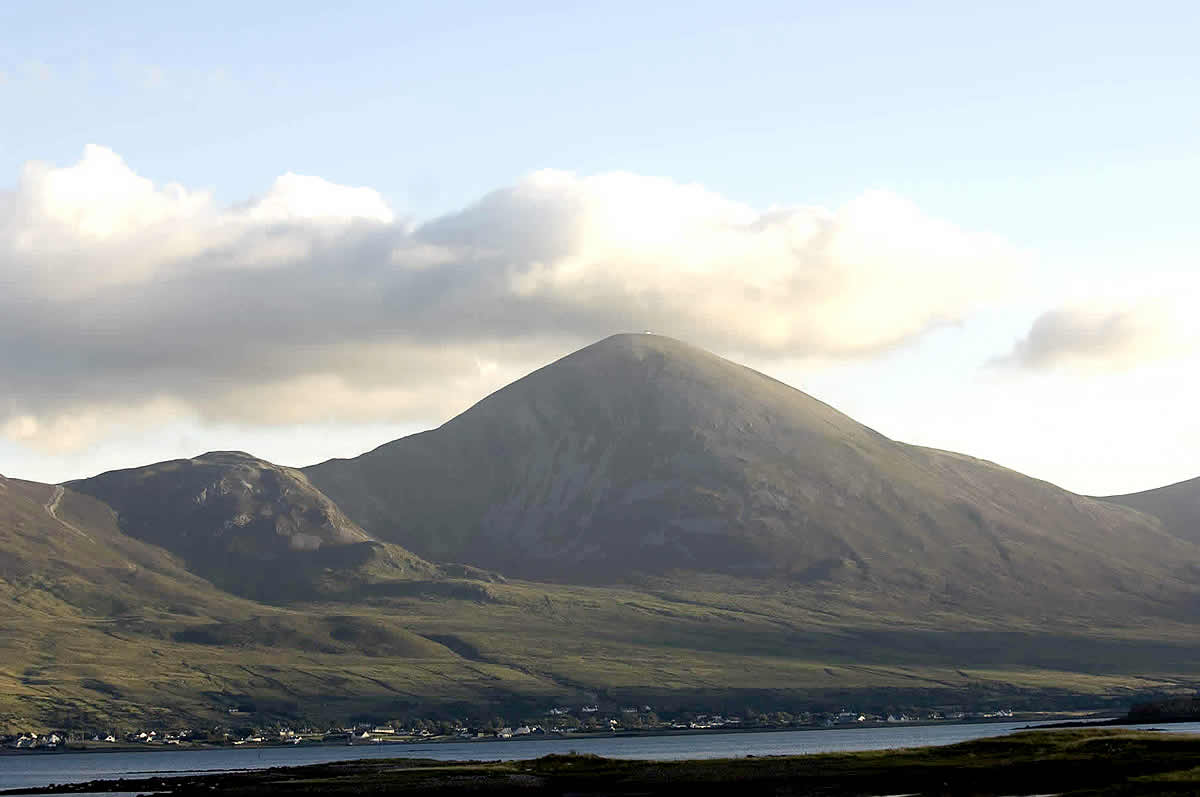 View of Croagh Patrick over Clew