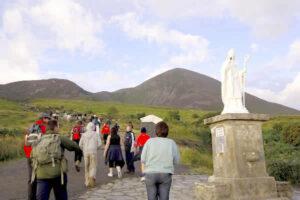 Walkers on Croagh Patrick, near Westport
